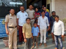 Missing girl found in 5 hours shahapur police