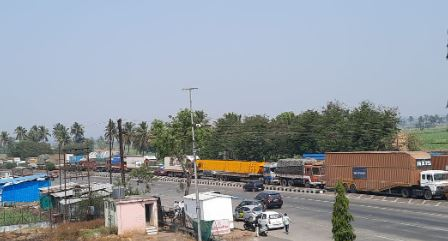 Queues of vehicles for fastag